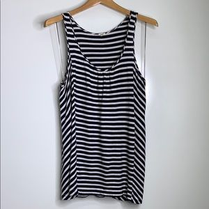 J. CREW • Striped Navy Sleeveless Tank Top